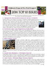2014 TOP TEN ISSUES